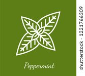 peppermint leaves icon.... | Shutterstock .eps vector #1221766309