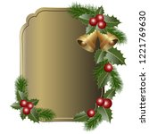 christmas background with... | Shutterstock .eps vector #1221769630