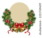 christmas background with... | Shutterstock .eps vector #1221769639
