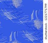 various pen hatches. seamless...   Shutterstock .eps vector #1221771799