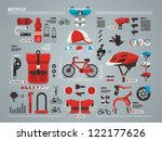 bicycle and accessories info... | Shutterstock .eps vector #122177626