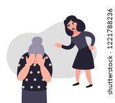 family violence and aggression... | Shutterstock .eps vector #1221788236