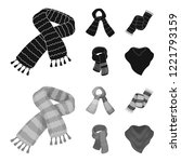 various kinds of scarves ... | Shutterstock . vector #1221793159