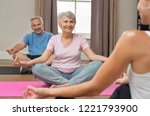 senior couple with trainer... | Shutterstock . vector #1221793900
