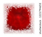 abstract red background in... | Shutterstock .eps vector #1221794653