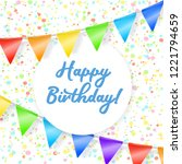 happy birthday background with... | Shutterstock .eps vector #1221794659
