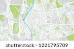urban vector city map of... | Shutterstock .eps vector #1221795709