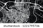 urban vector city map of... | Shutterstock .eps vector #1221795736