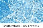 urban vector city map of madrid ... | Shutterstock .eps vector #1221796219