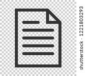 document note icon in flat... | Shutterstock .eps vector #1221803293