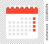 calendar agenda icon in flat... | Shutterstock .eps vector #1221803296