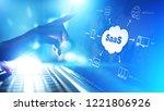 saas   software as a service ... | Shutterstock . vector #1221806926