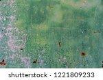 rusty green metal texture ... | Shutterstock . vector #1221809233