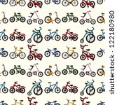 seamless bicycle pattern... | Shutterstock .eps vector #122180980