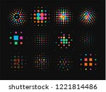 thumbprint  fingerprint scanner ... | Shutterstock .eps vector #1221814486