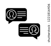customer live chat glyph icon.... | Shutterstock .eps vector #1221816406