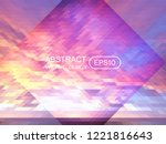 abstract triangle creative...   Shutterstock .eps vector #1221816643