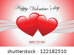 valentine's heart  greeting card | Shutterstock .eps vector #122182510