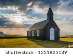 budir church in iceland | Shutterstock . vector #1221825139