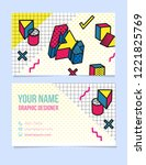 modern typographic  isometric...   Shutterstock .eps vector #1221825769
