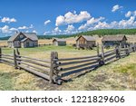 Wide Angle View Of An Old West...