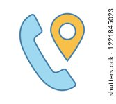 calls tracking color icon.... | Shutterstock .eps vector #1221845023