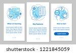 e learning onboarding mobile... | Shutterstock .eps vector #1221845059