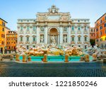 trevi fountain in the morning... | Shutterstock . vector #1221850246