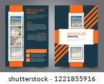 abstract flyer template....   Shutterstock .eps vector #1221855916
