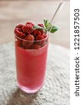 dark pink beautifully garnished ...   Shutterstock . vector #1221857503