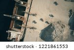 aerial top down view of bulk... | Shutterstock . vector #1221861553