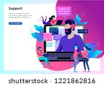 concept landing page template... | Shutterstock .eps vector #1221862816