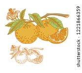 vector illustration. two...   Shutterstock .eps vector #1221866359