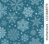 snowflake seamless pattern.... | Shutterstock .eps vector #1221868570