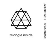 triangle inside hexagon icon....   Shutterstock .eps vector #1221880129
