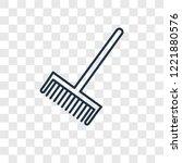 broom cleanin concept vector... | Shutterstock .eps vector #1221880576