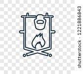 bonfire concept vector linear... | Shutterstock .eps vector #1221886843