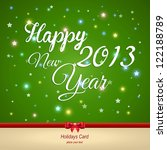 happy new year greeting card.... | Shutterstock .eps vector #122188789
