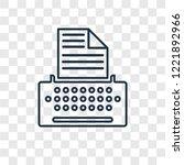 copywriter concept vector... | Shutterstock .eps vector #1221892966