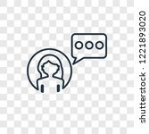 influencer concept vector... | Shutterstock .eps vector #1221893020
