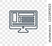 blog concept vector linear icon ...   Shutterstock .eps vector #1221893023