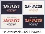 sargasso bold  semibold ... | Shutterstock .eps vector #1221896053