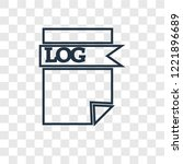 log file concept vector linear... | Shutterstock .eps vector #1221896689