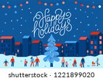 vector illustration in flat... | Shutterstock .eps vector #1221899020