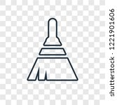 broom concept vector linear... | Shutterstock .eps vector #1221901606