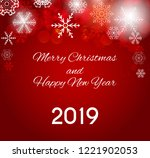 2019 happy new year and merry... | Shutterstock . vector #1221902053