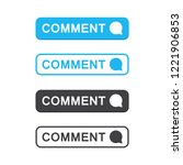set of comment button icon in a ... | Shutterstock .eps vector #1221906853