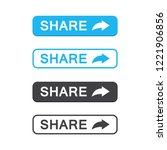 set of share button icon in a... | Shutterstock .eps vector #1221906856
