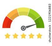 customer satisfaction meter... | Shutterstock .eps vector #1221906883