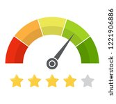 customer satisfaction meter... | Shutterstock .eps vector #1221906886